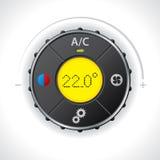 Klimaanlagemessgerät mit dem Gelb geführt lizenzfreie abbildung