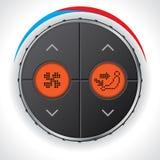 Klimaanlagemessgerät mit Doppellcd-Anzeige Stockfotografie