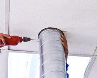 Klimaanlagen-Techniker stockfoto