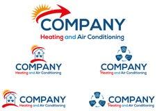 Klimaanlagengeschäftslogo oder -ikone Stockfoto