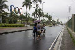 Klimaat: De zomer in Rio de Janeiro heeft een regenachtige week Royalty-vrije Stock Foto
