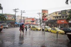 Klimaat: De zomerregen in Rio de Janeiro Stock Afbeeldingen