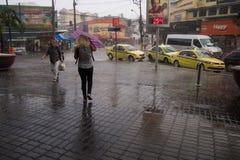Klimaat: De zomerregen in Rio de Janeiro Stock Foto's