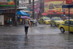 Klimaat: De zomerregen in Rio de Janeiro Stock Afbeelding