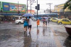 Klimaat: De zomerregen in Rio de Janeiro Royalty-vrije Stock Foto