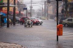 Klimaat: De zomerregen in Rio de Janeiro Royalty-vrije Stock Afbeeldingen