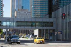 Klimaat-gecontroleerde het comfort voetvoetgangersbrug van Minneapolis Skyway Royalty-vrije Stock Fotografie