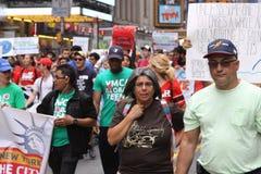 Klimaat Maart NYC 2014 royalty-vrije stock afbeeldingen