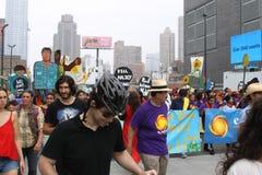 Klimaat Maart NYC 2014 royalty-vrije stock afbeelding