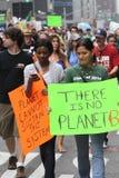 Klimaat Maart NYC 2014 stock afbeelding