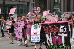 Klimaat Maart NYC 2014 royalty-vrije stock foto