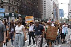 Klimaat Maart NYC 2014 stock foto's
