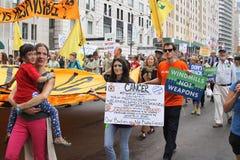 Klimaat Maart NYC 2014 stock fotografie