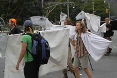 Klimaat Maart NYC 2014 stock foto