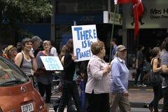 Klimaatverandering Maart Auckland royalty-vrije stock fotografie