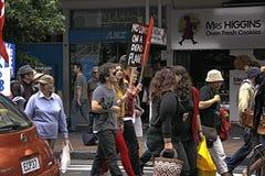 Klimaatverandering Maart Auckland stock foto
