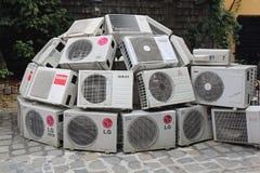 Klimaatveranderingeninstallatie Royalty-vrije Stock Foto's