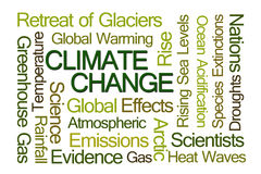 Klimaatveranderingword Wolk Royalty-vrije Stock Foto's