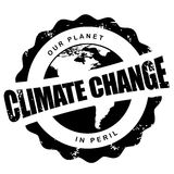 Klimaatveranderingzegel op wit wordt geïsoleerd dat Royalty-vrije Stock Afbeeldingen