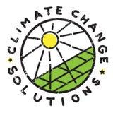 Klimaatveranderingzon Stock Foto
