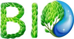 Klimalogo gemacht von den Blättern Stockbild