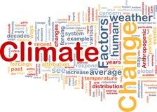 Klimaänderungs-Hintergrundkonzept Lizenzfreie Stockbilder
