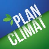 Klimaplan auf französisch: Plan Climat Stockfoto
