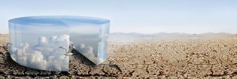 Klimasteuerpanorama Stockbild