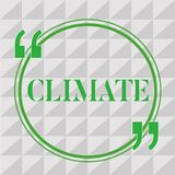 Klimat för handskrifttexthandstil Menande vädervillkor för begrepp i område över långa tider av tidtemperaturen royaltyfri illustrationer