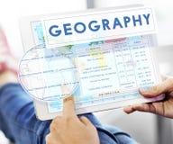 Klimatet för geografiöversiktsvärlden specificerar begrepp Royaltyfria Bilder