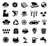 Klimatförändring global uppvärmning, ekologi, miljö royaltyfri illustrationer