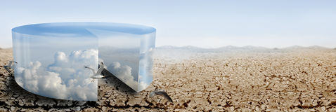 klimatkontrollpanorama Fotografering för Bildbyråer