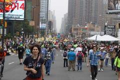 Klimatmars NYC 2014 Arkivbilder