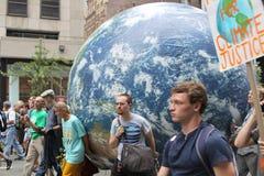Klimatmars NYC 2014 Royaltyfria Foton