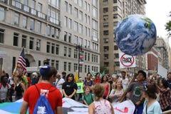 Klimatmars NYC 2014 Arkivfoton