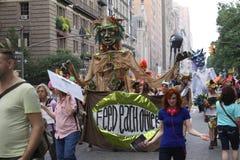 Klimatmars NYC 2014 Arkivfoto