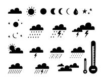 klimatsymbolväder stock illustrationer