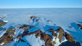 Klimawandel - antarktischer schmelzender Gletscher stockfotos