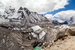 Klimawandel der globalen Erwärmung des schmelzenden Gletschers Stockfotos