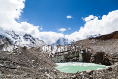 Klimawandel der Himalaja-Gebirgsglobalen Erwärmung Lizenzfreie Stockfotos