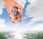Klimawandel, globale Erwärmung, feuern globales eingesetzt in Wasser, sicheres Th ab Lizenzfreie Stockfotografie