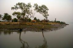 Klimawandel in Sundarban, Indien Lizenzfreie Stockfotos