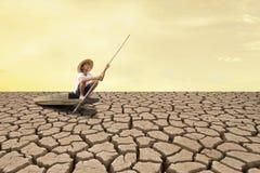 Klimawandel- und Dürrenauswirkung Stockfotos