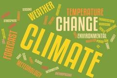 Klimawandel-Wort-Wolke stock abbildung