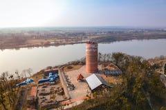 Klimek tower in Grudziadz at Wisla river. Poland Royalty Free Stock Photos