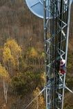 Klimmer op celtoren Stock Foto's