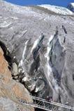Klimmer op gletsjer stock foto