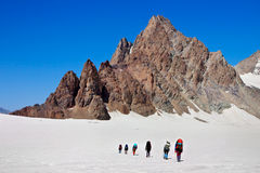Klimmers in de berg Stock Foto