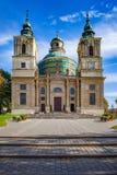 Collegiate church of Saint Joseph in Klimontow village in Swietokrzyskie Voivodeship royalty free stock photos