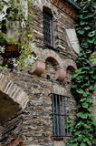 Klimop behandelde kasteelmuur in Duitsland Royalty-vrije Stock Foto's